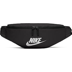 Nike 2018- Riñonera desportiva, 15 cm, Negro (Negro/Blanco)