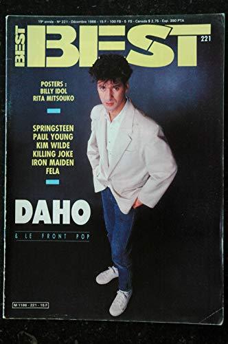 BEST 221 1986 DEC ETIENNE DAHO KIM WILDE SPRINGSTEEN IRON MAIDEN POSTERS BILLY IDOL RITA MITSOUKO