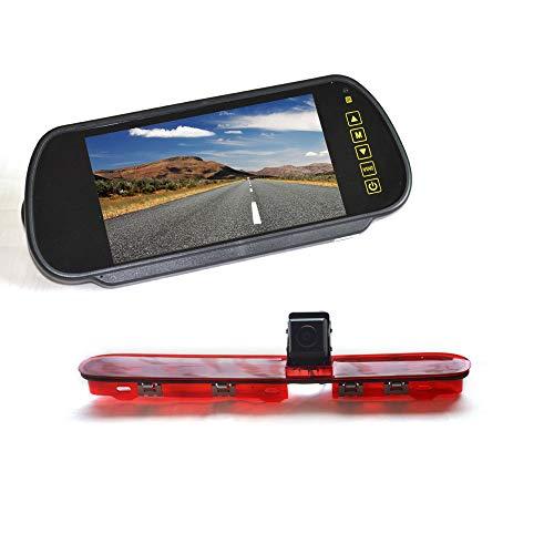 Vardsafe VS536K | Bremslicht Rückfahrkamera + 17,8 cm (7 Zoll) Clip-on Spiegel Monitor Bildschirm für Citroen Jumpy Dispatch SpaceTourer Peugeot Expert Traveller (2016-2019)