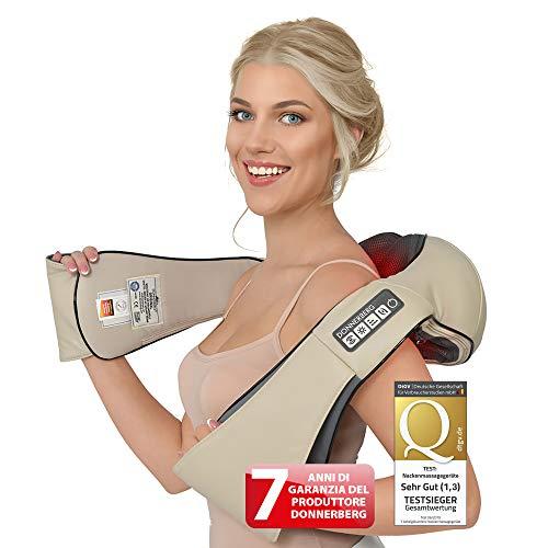 ORIGINALE-Massaggiatore cervicale e da collo Donnerberg-7 anni di garanzia-Qualità tedesca-Calore a infrarossi e vibrazione-Rimedio per dolori cervicali