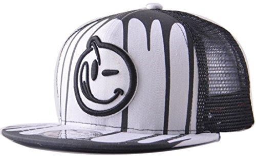 Belsen Kind habgierig Hip-Hop Cap Baseball Kappe Hut Truckers Hat (weiß)