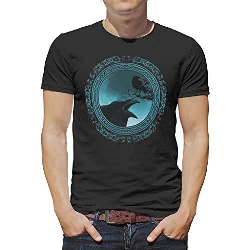 YxueSond Heren Zachte Viking T-Shirts Bedrukte Tops Tees voor Jongens
