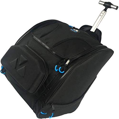 BoundR Condition Ski Boot Bag Backpack with Wheels - Premium Rolling Travel Backpack for Men and Women. Holds Ski or Snowboard Boots, Helmets, Clothing, Goggles and More