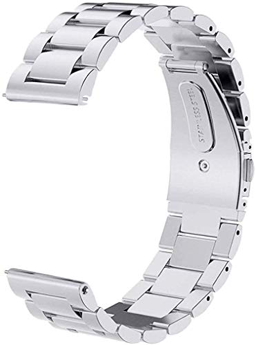 ProElite Stainless Steel Metal Business Bracelet Wrist Band Strap for Huawei Watch GT2 46mm (Silver)