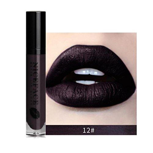 Rouge À Lèvres Sonnena 2018 Nouvelle Lip Lingerie Matte Liquide Lip Imperméable À l'eau Maquillage Shades Gloss 12 Teintes Rouge/Noir/Gris/Brun (12#)