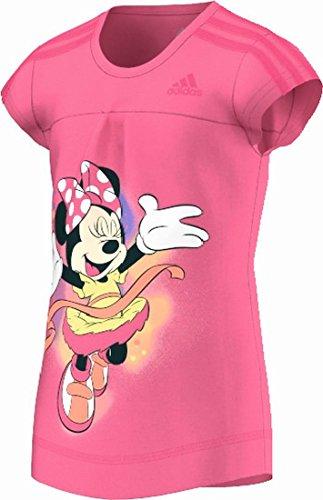 adidas Maglietta sportiva da ragazza per il tempo libero LG Minnie, taglia 140, colore: rosa