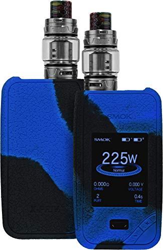 Preisvergleich Produktbild Baluum Hülle für SMOK X-PRIV in Schwarz / Blau E-Zigaretten Schutzhülle aus Silikon ähnlichen TPU