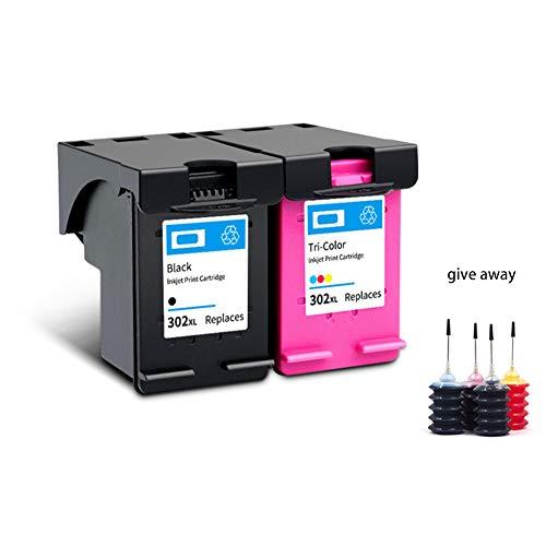 AAMM 302Xl Hochleistungs-Tintenpatrone für HP Deskjet 1110 1112 2130 2131 2132 2133 2134 3634 3632 3637 4510 4516, Farbe, Geeignet für Tintenstrahldrucker-1 Black 1 tri-Color