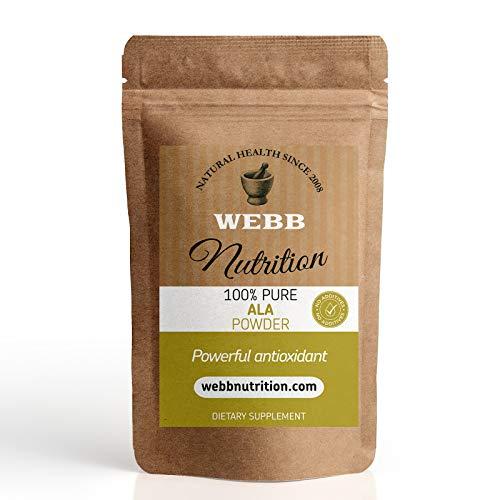 Alpha Lipoic Acid Pure Powder (250g) - Powerful Antioxidant - GMO Free Vegan
