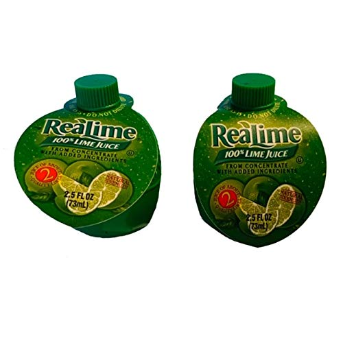 ReaLime Lime Juice | Lime Juice From Concentrate | 2.5 oz Each Bottle | Pack of 2