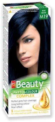 MM Beauty permanente Couleur des cheveux MM Beauty & Phyto Coulour Complex 125g - № M19 Bleu Noir