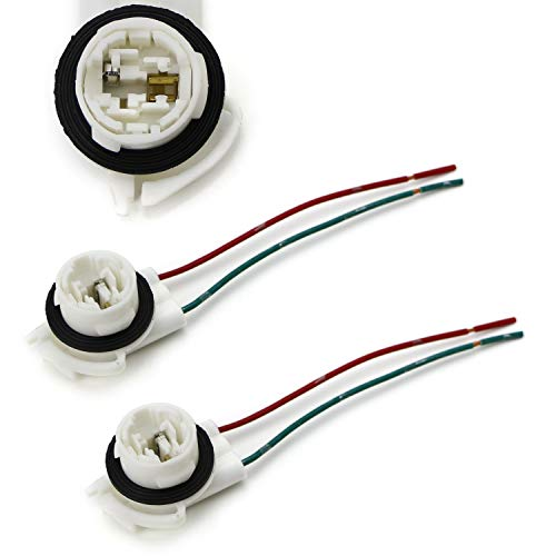 iJDMTOY (2) 3156 2-Wire Harness Pre-Wired Sockets As Repair, Replacement,...
