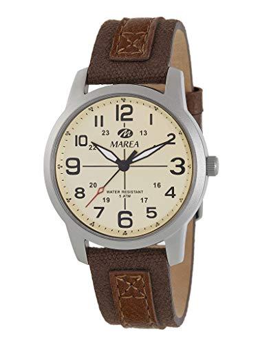 Reloj Caballero Marea Trendy. Cuero marrón B54152/1