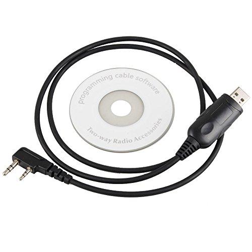 AIKONG A2 - Cable de programación USB para Wouxun KG-UVD1P KG-UV8D KG-UV6D KG-UV2D A006 P
