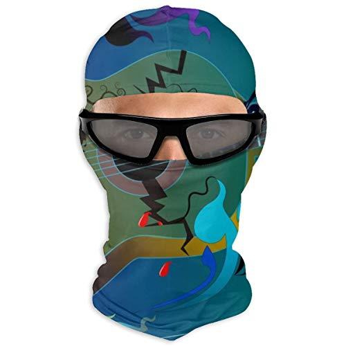 N/Een volledig gezichtsmasker De stem van de schedel gitaar kap zonnebrandcrème masker dubbele laag koud voor mannen en vrouwen