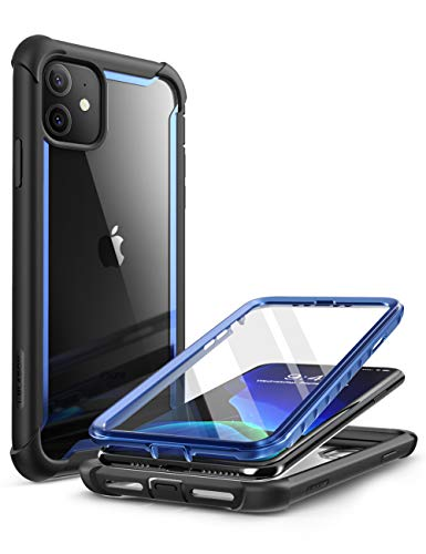 i-Blason Funda iPhone 11 [Ares] 360 Carcasa Transparente Resistente con Protector de Pantalla Integrado para iPhone 11 de 6,1 Pulgadas (Modelo de 2019) - Azul