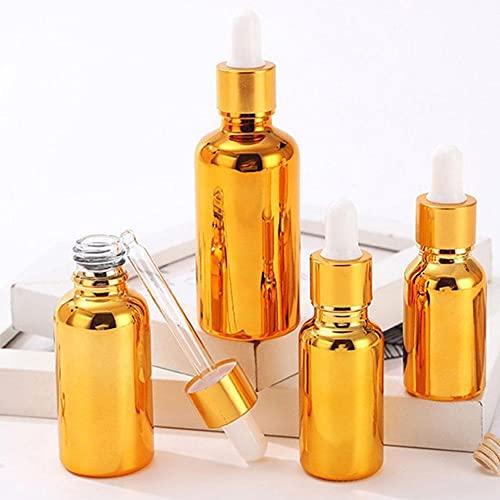 ZEREA Botellas de vidrio de 5 ml con pipetas cuentagotas vacías, contenedor de muestras rellenable para aceites esenciales/aceites de masaje/aromaterapia/perfume/líquido químico