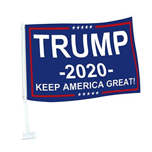 Elibeauty Trump 2020 Flagge Durable Autofahne Präsident Trump Autofahne für Autos, SUVs, Trucks (03)