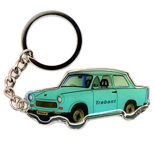 Schlüsselanhänger I Love Berlin Souvenir Schlüsselclip Deutschland Andenken Trabant (100262-2 blau)
