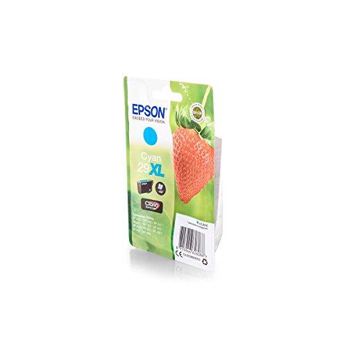 Epson C13T29924010/29XL - Cartucho de tinta para impresora Expression Home XP-445 Premium, color cian, 6,4 ml
