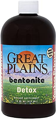 Yerba Prima Bentonite, Detox Pint, 16 Ounce - Liquid Clay Supplement - Food Grade by Yerba Prima
