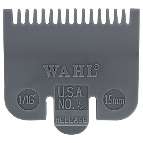 "Wahl Professional Color Coded Comb Attachment #3137-101 - Grey #1/2 - 1/16"" (1.5 mm) - Great for Professional Stylists and Barbers"