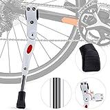 Pata de Cabra para Bicicleta, Caballete Bicicleta Ajustable de Aluminio Bike Kickstand Bicicleta - Se Adapta a MTB Montaña, Carretera, Híbrido, Bicicletas Plegables(34.5cm-40cm)