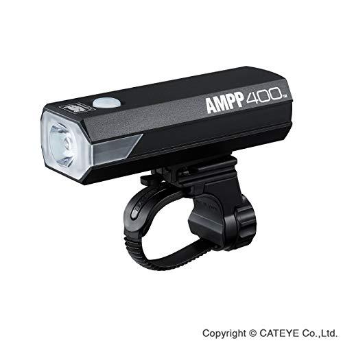 CatEye Ampp 400 Front Luz para Bicicleta, Unisex Adulto, Negro, 34 x 100 x 37 mm