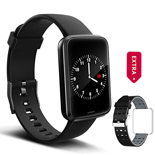 Lintelek Smart Watch, Smartwatch Blood Pressure Monitor, Fitness Watch HR with Sleep Monitor Compatible with iPhone, Samsung and Android Phones for Men, Women and Gifts