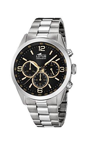 Lotus Watches Reloj Cronógrafo para Hombre de Cuarzo con Correa en Acero Inoxidable 18152/9