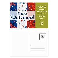お祝いのエッフェル塔フランスのランドマーク 詩のポストカードセットサンクスカード郵送側20個