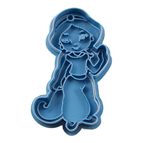 Cuticuter Yasmin Chibi Princesa Disney Cortador de Galletas, Azul, 8x7x1.5 cm