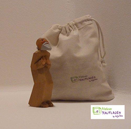 Hirte mit Spitzbart von Lotte Sievers-Hahn Krippenfigur mit Baumwollbeutel