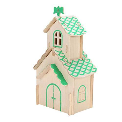 Kit modèle Puzzle bricolage 3D Puzzle en bois Jigsaw Lovely House