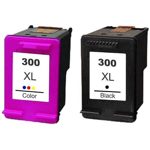 XL Tintenpatronen Set wie HP 300 black XL CC641EE und HP 300 color XL CC644EE, für DeskJet D 1600, D 1658, D 1660, D 1663, D 2530, D 2545, D 2560, D 2563, D 2566, D 2600.