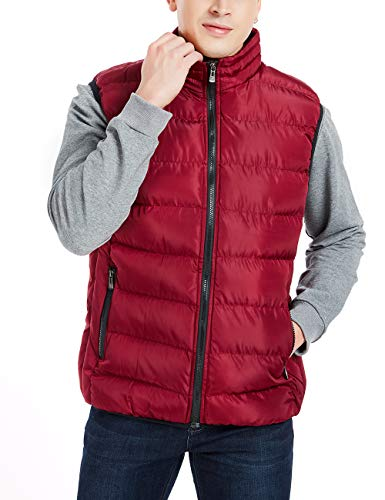 Men's Low Cost Red Puffer Jacket, L, XL