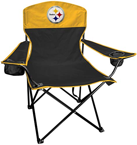 Rawlings NFL XL Lineman Tailgate and Camping Folding Chair, Black, Yellow, One-Size