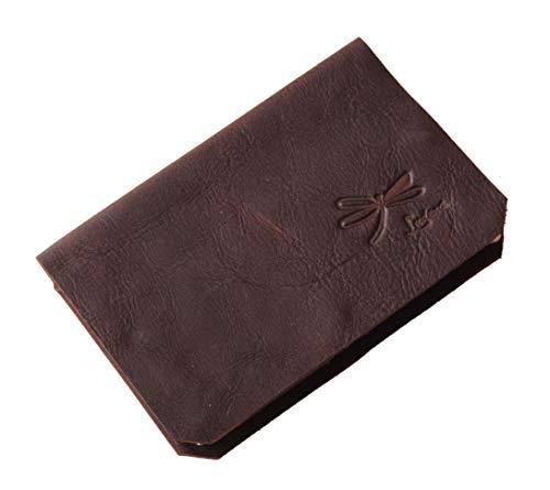 Cartera de cuero marrón para hombre, Tarjetero y billetero de piel Ideal para regalo. Hecho a mano en España