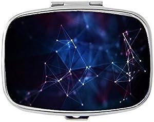 QJ CMJ Constellation Geometry Rectangular Pill Box/Pill case-• 2 Compartments for Keeping Pills Separate Pill Box/Pill case