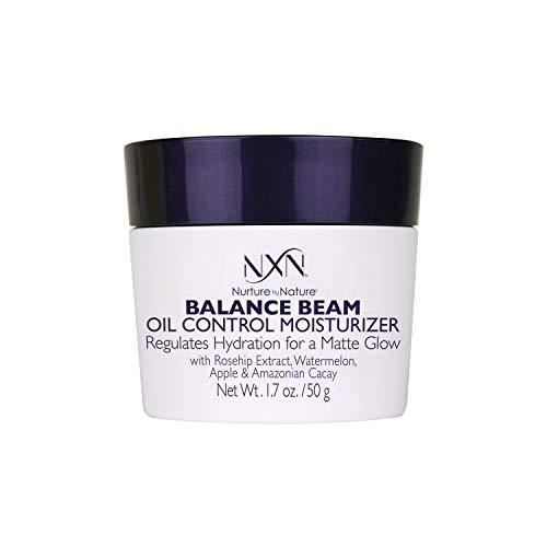 NxN Balance Beam Oil Control Gel Cream Face Moisturizer, Natural Anti Aging Formula for Oily or Combination Skin, Men and Women, 1.7 Oz