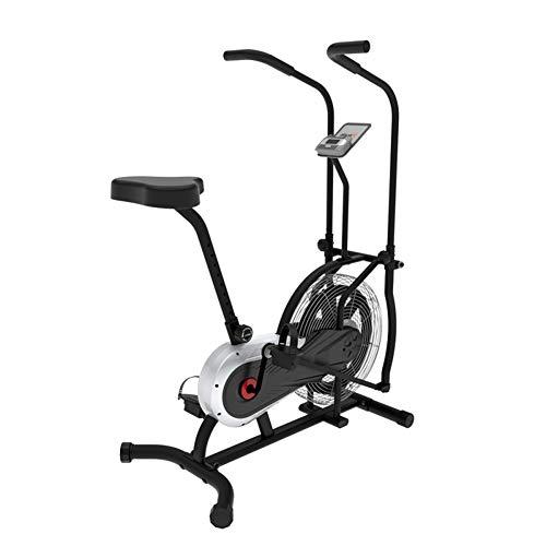 WSHA Übung Upright Fan Bike Indoor Cycling Fitness Bike Stationär mit Luftwiderstandssystem und Transporträdern, Gewichtskapazität 250 lbs