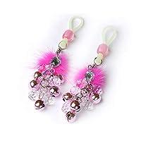 暗闇で光るおもちゃ服装飾のベッドの女性のネックレス大人のおもちゃのSmツール用ロープ・クリップ乳首クランプ (Color : Pink)