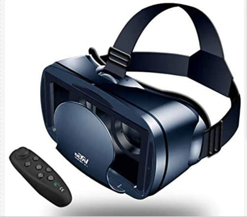 VR - Gafas de realidad virtual para Android / iOS, casco de realidad virtual con mango inalámbrico, gafas VR para juegos inmersivos en películas 3D para 5 a 7 pulgadas