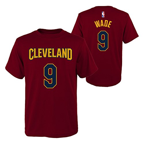OuterStuff Dwyane Wade Cleveland Cavaliers #9 NBA Youth Boys Name & Number T-Shirt (Youth Medium 10/12)