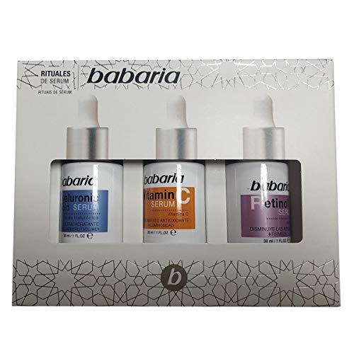 Babaria, Pack serum compuesto por un Serum Ácido Hialurónico 30ml, un Serum Vitamina C 30ml y un Serum Retinol 30ml