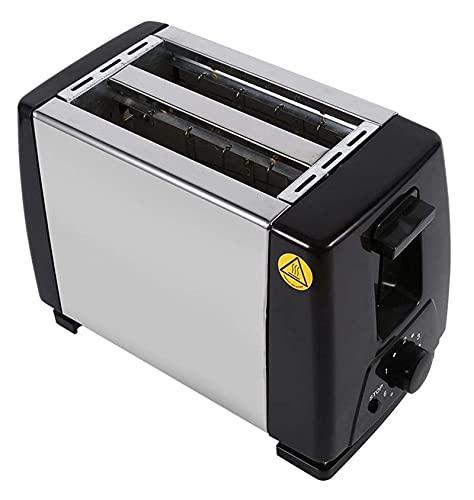 Dpliu 2 rebanadas Tostador eléctrico, 750W 220V Máquina de Pan para el Desayuno Hogar Pan Horneado