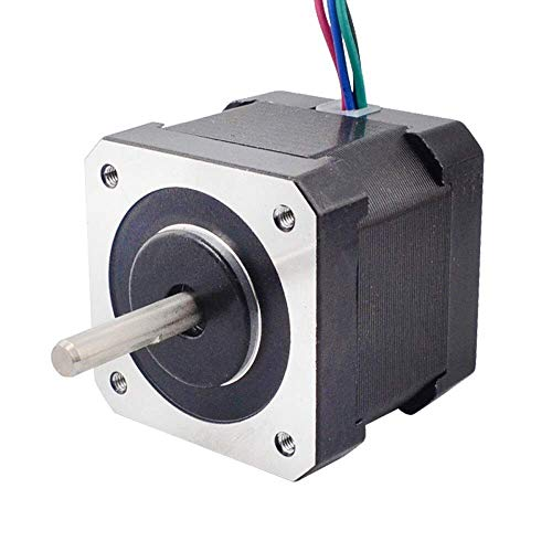 Printer Accessories Dual Shaft 4-Lead Nema 17 Stepper Motor 42 Motor 40mm 45Ncm(63.74oz.in) 2A Step Motor for CNC XYZ/3D Printer 3D Printing Accessories