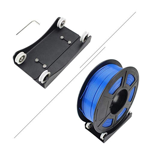 Toaiot - Soporte de filamento para impresora 3D, soporte de montaje de bobina Pully liso, ajustable con rodamiento para TPU/PLA/ABS/nailon/madera/PEGT 0,5 kg 1 kg