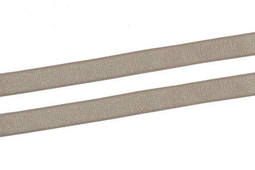 YYCRAFT 3/8 Inch 10mm Bra Strap Elastic Band Trim Elastic Ribbon Craft Sewing(20 Yards,Tan)