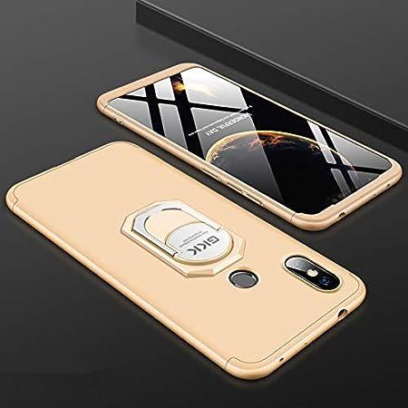 Azul Negro Custodia/® Firmness Smartphone Funda Carcasa Case Cover Caso con Anillo para Xiaomi Redmi Note 6 Pro